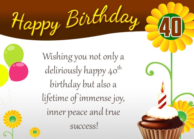 160 best happy 40th birthday wishes allupdatehere 40th birthday wishes bookmarktalkfo Choice Image
