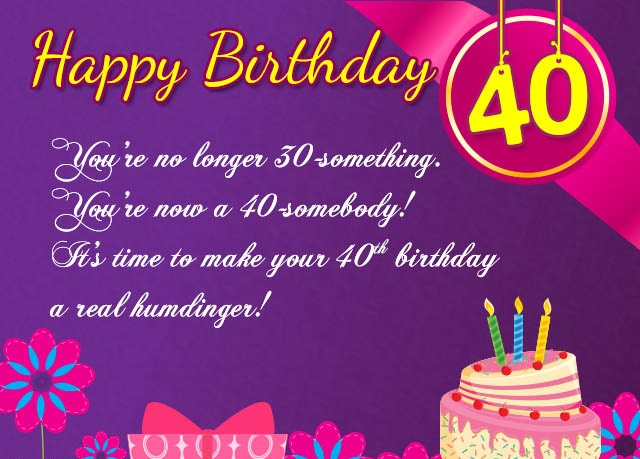 40th birthday wishes for sister