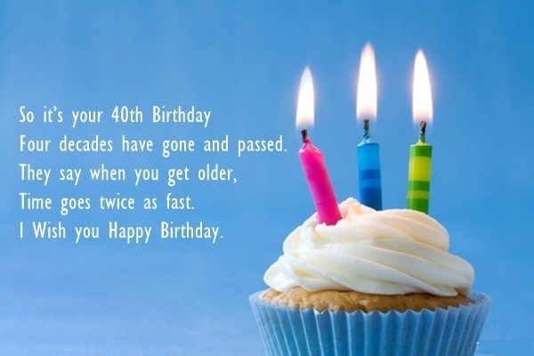 160 40th Birthday Wishes Best Quotes Messages Hd Images Happy 40th Birthday Wishes