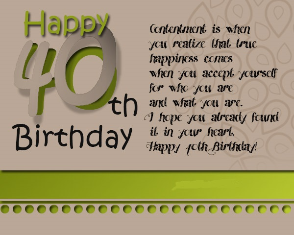 160 Best Happy 40th Birthday Wishes Allupdatehere Happy 40th Birthday Wishes