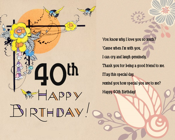 40 Birthday Sayings