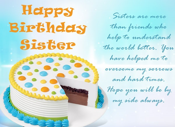 Birthday Wishes For Special Sister