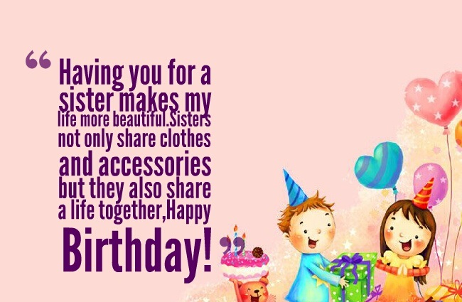 Pleasant 250 Special Happy Birthday Wishes For Sister Best Way To Wish Funny Birthday Cards Online Fluifree Goldxyz