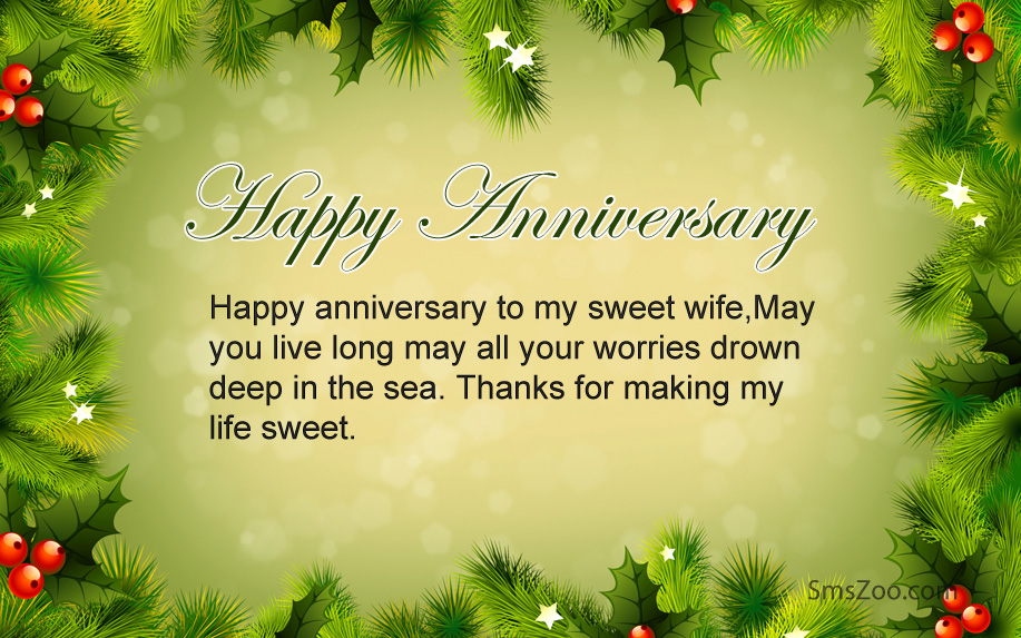 nice anniversary messages to wife