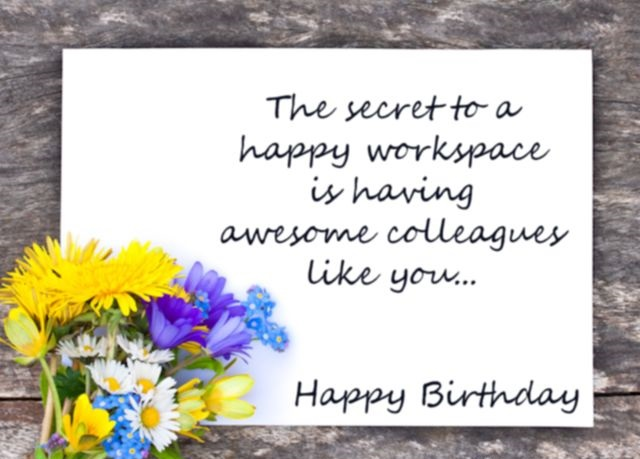 133 Best Birthday Wishes For Colleagues Bday Messages 1st Year Happy Birthday Wishes