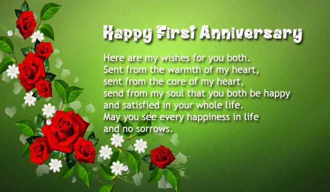 First anniversary wishes quotes messages saying images
