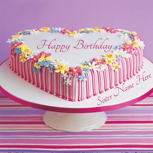 Birthday Cake Images With Name For Sister Milofi Com For