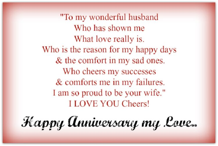 Happy Anniversary To My Husband Letter