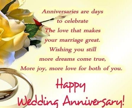 Hy Wedding Anniversary Quotes First Wishes For Granddaughter