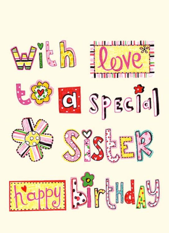 250 special happy birthday wishes for sister allupdatehere funny sister birthday cards bookmarktalkfo Images