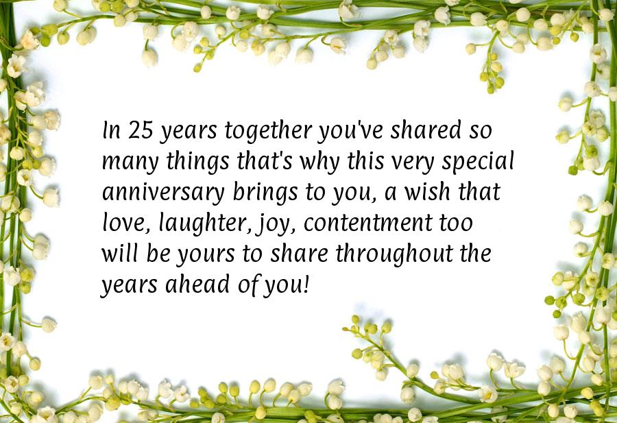 70 25th Anniversary Wishes Quotes Messages Hd Images