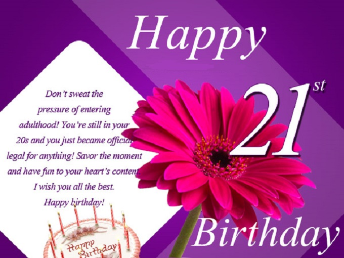 21st Birthday Wishes