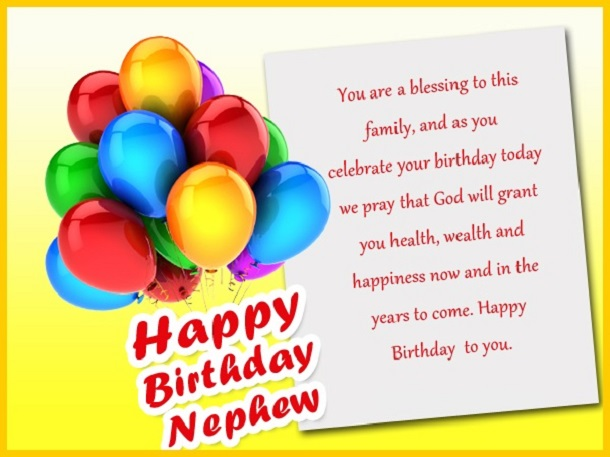 160 Birthday Wishes For Nephew Quotes Messages – Birthday Cards for Nephew