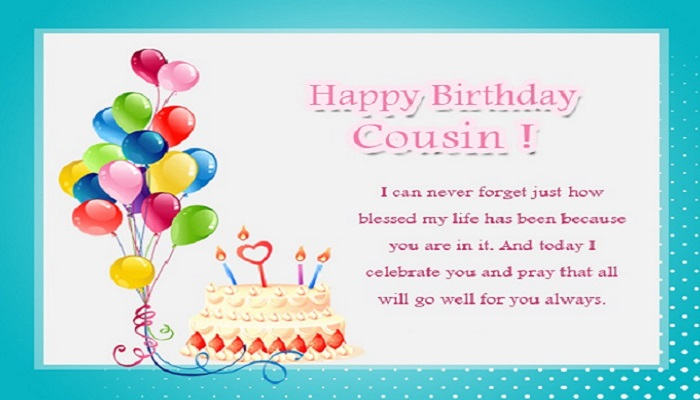 Happy Birthday Wishes For Cousin Female and Male - Quotes, Saying
