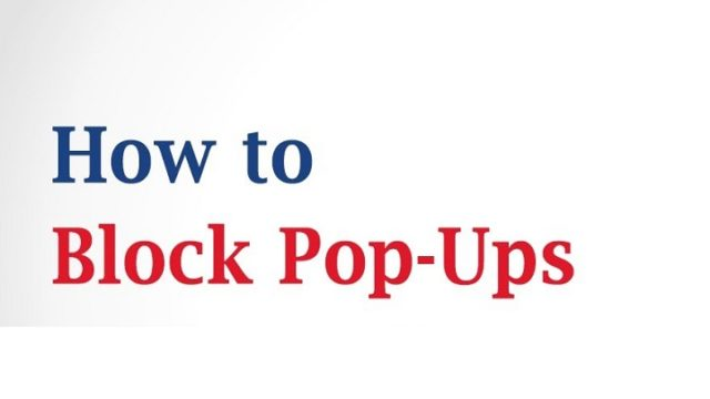 How To Block Pop Ups