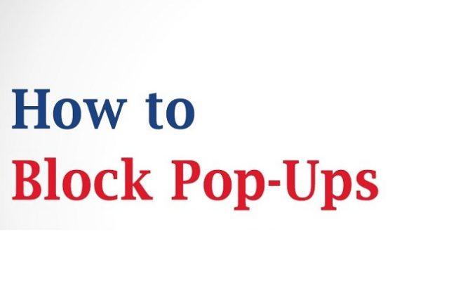 How To Block Pop Ups