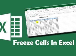 How To Freeze Cells In Excel
