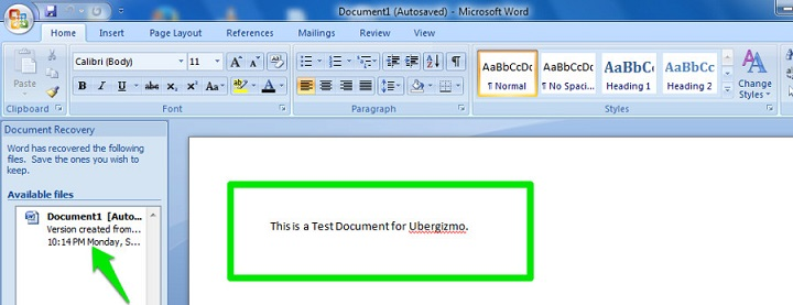 how to recover a word document