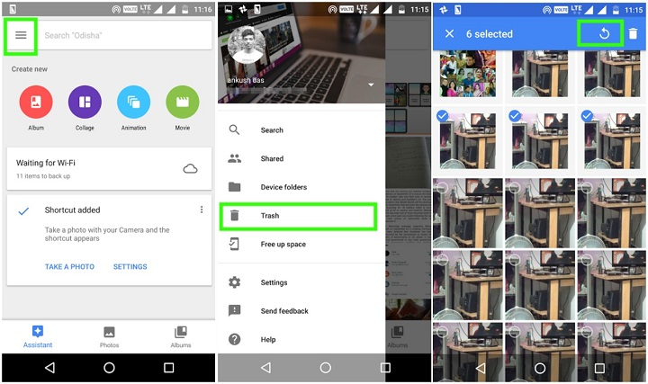 how to recover deleted photos off google drive