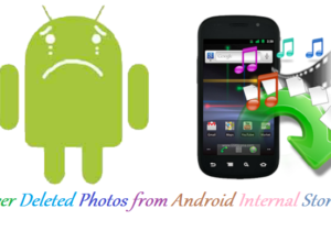 Recover deleted photos android internal storage