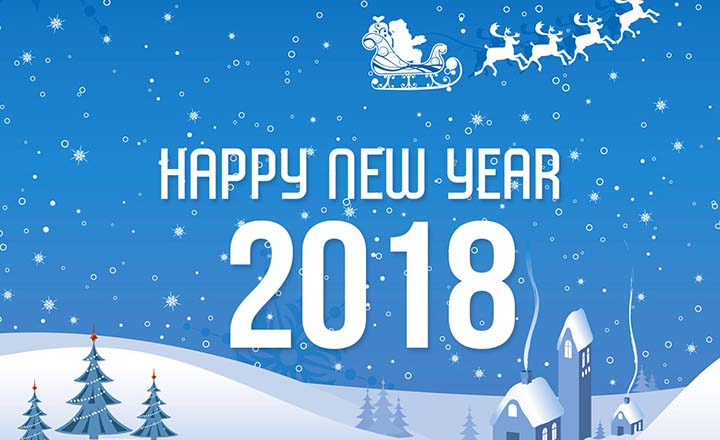 happy new year 2018 greetings and saying