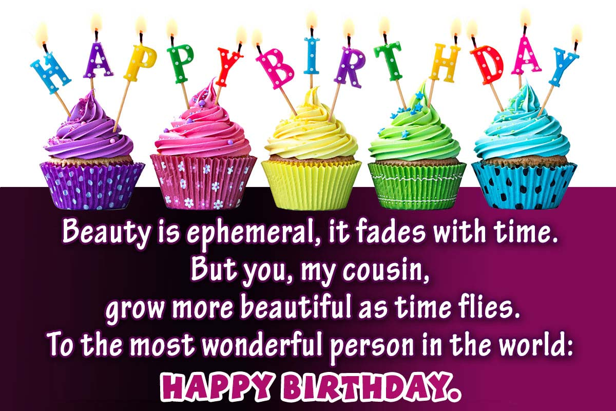Happy Birthday Cousin Quotes With Images & Memes