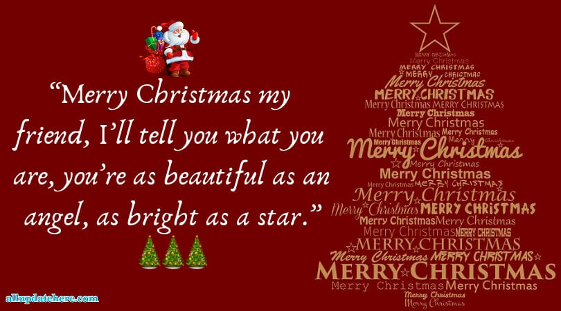 merry christmas message sample
