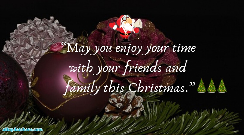 Christmas greetings for friends