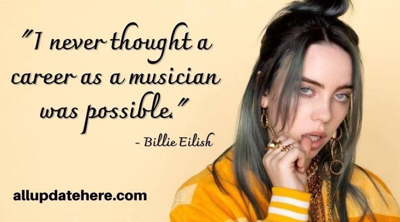 billie eilish quotes short