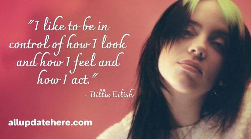 billie eilish quotes lyrics