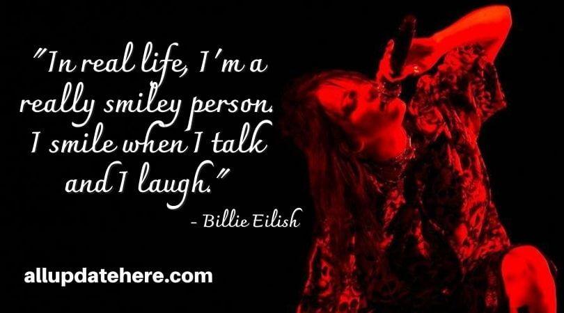 billie eilish quotes