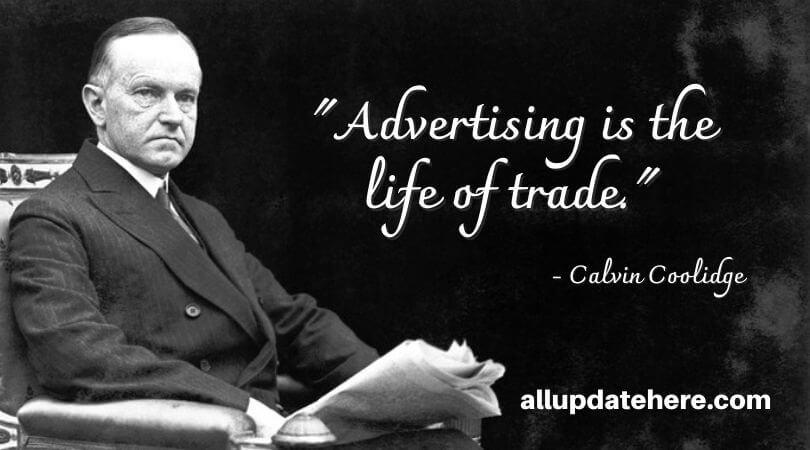 calvin coolidge quotes business