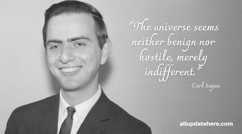 carl sagan quotes about space