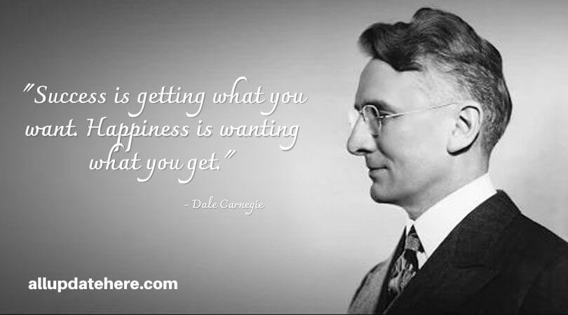 dale carnegie quotes on success