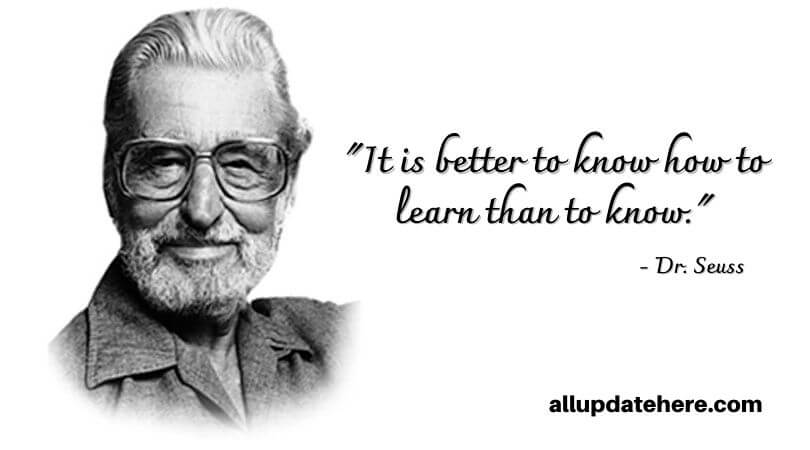 dr. seuss quotes about learning