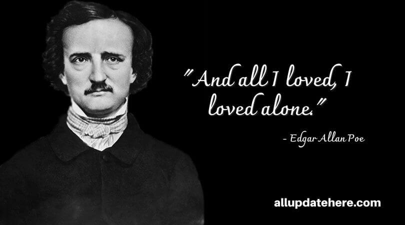 alone edgar allan poe quotes