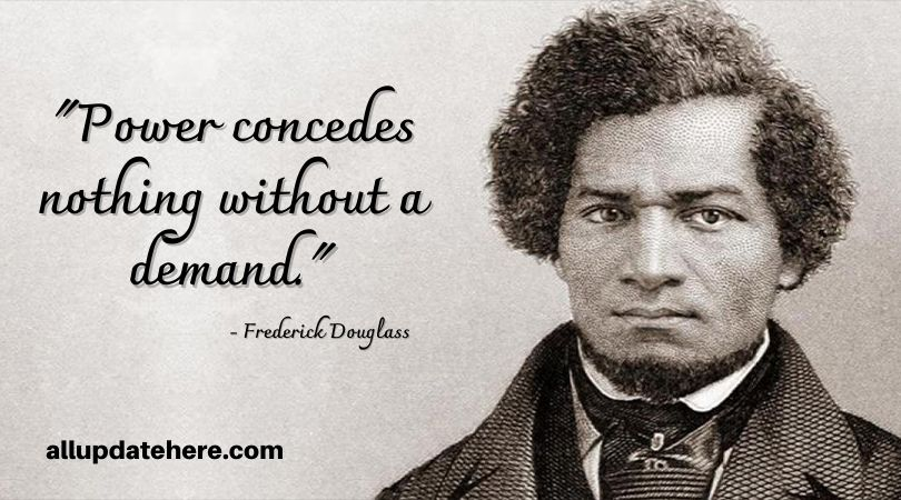 frederick douglass quote about power