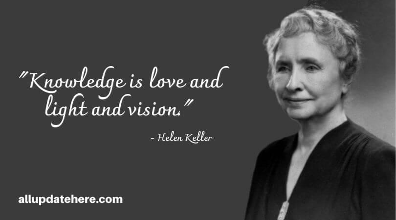 helen keller quotes vision
